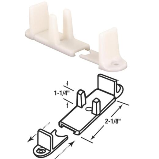 Prime-Line 1-1/4 In. Adjustable Nylon Base Bypass Door Bottom Guide (2 Count)