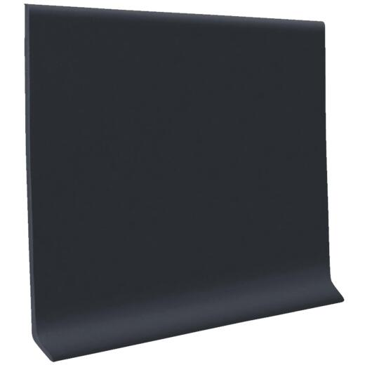 Roppe 4 In. x 4 Ft. Black Vinyl Dryback Wall Cove Base