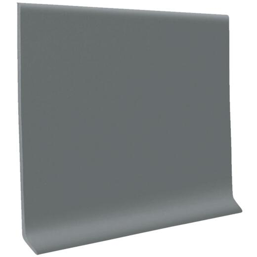Roppe 4 In. x 4 Ft. Dark Gray Vinyl Dryback Wall Cove Base