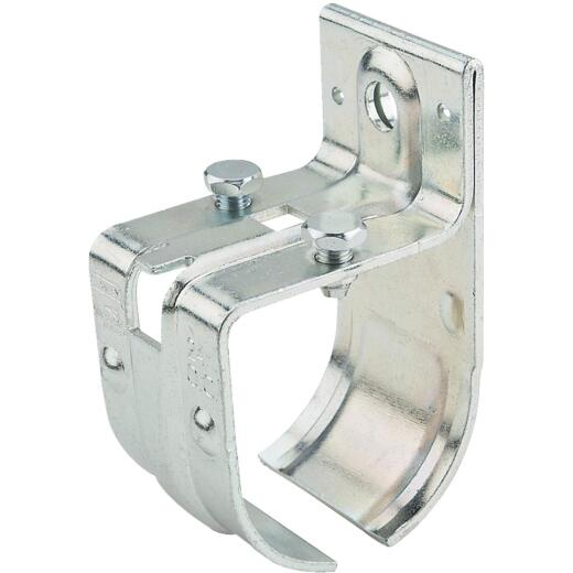 National Single Splice Round Rail Barn Door Bracket, Zinc-Plated